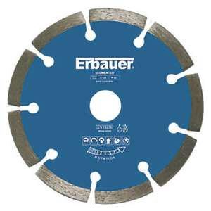 ERBAUER DIAMOND SEGMENTED BLADE 125 X 22.23MM £1.99 @ Screwfix