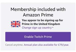 Twitch Prime FREE Inc 5 free PC games - with Amazon Prime (£79 p/a)