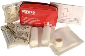 Oxford  Motorcycle First Aid Kit £1.00 @ Halfords ebay  Free C&C at local store