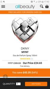 DKNY MYNY 100ml perfume £24.65 @ All Beauty