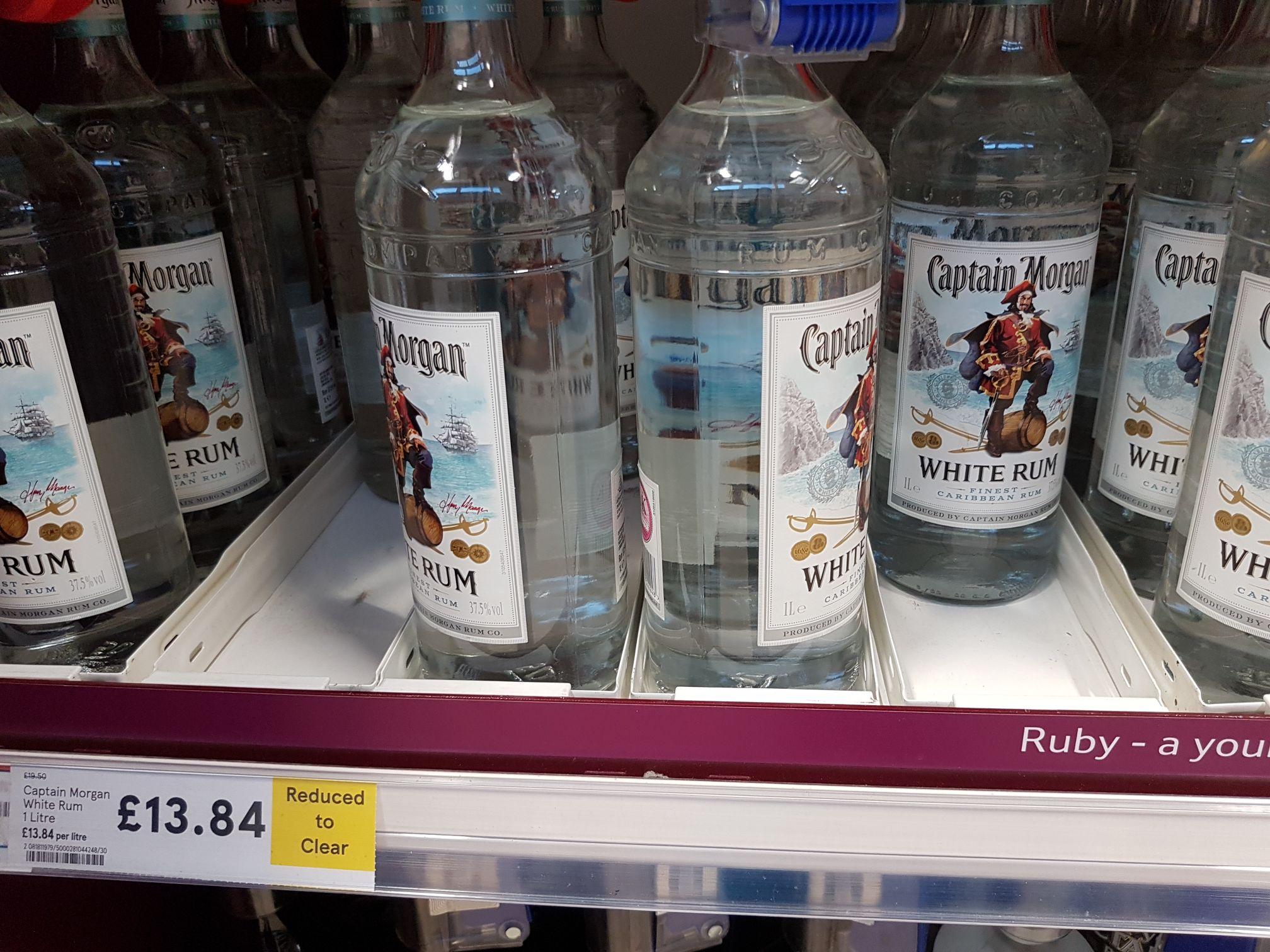 Captain Morgan white rum £13.84 @ Tesco