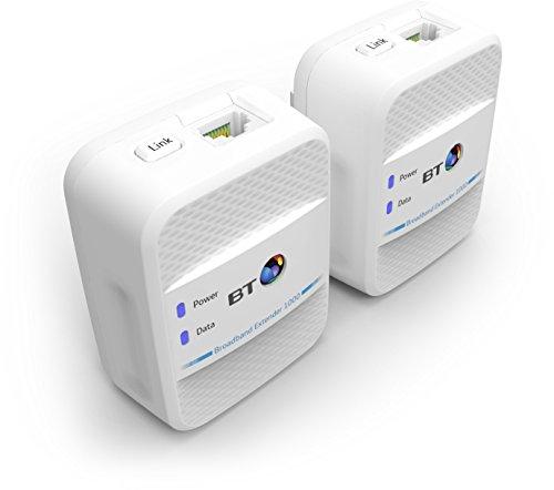 BT Broadband Extender 1000 Kit with wired AV1000 Powerline £34.48 @ Amazon