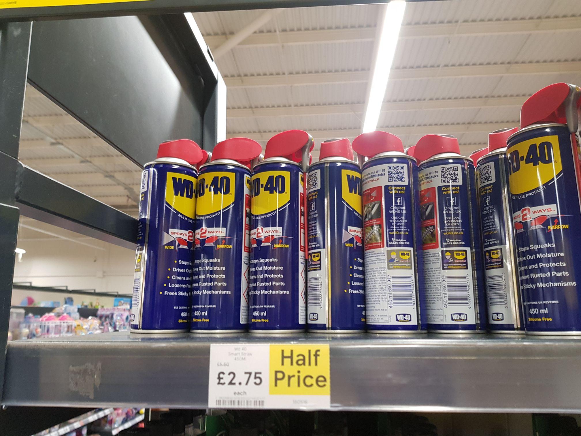 WD-40 450ml sprays 2 ways £2.75 instore @ Tesco