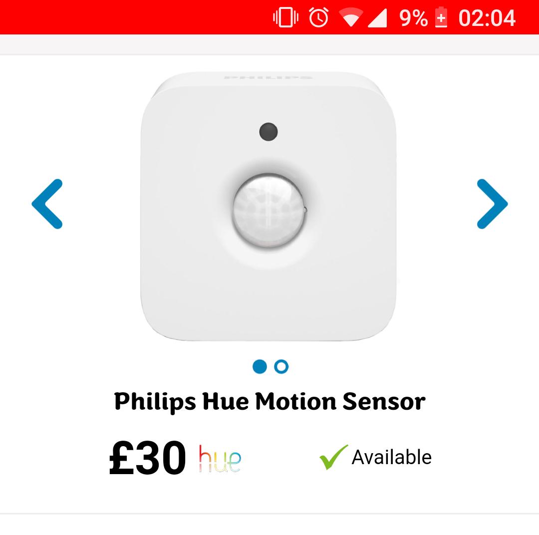Philips Hue Motion Sensor £24 w/code @ ao