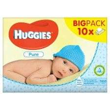 Huggies pure baby wipes 56x10 pack £5 at Tesco