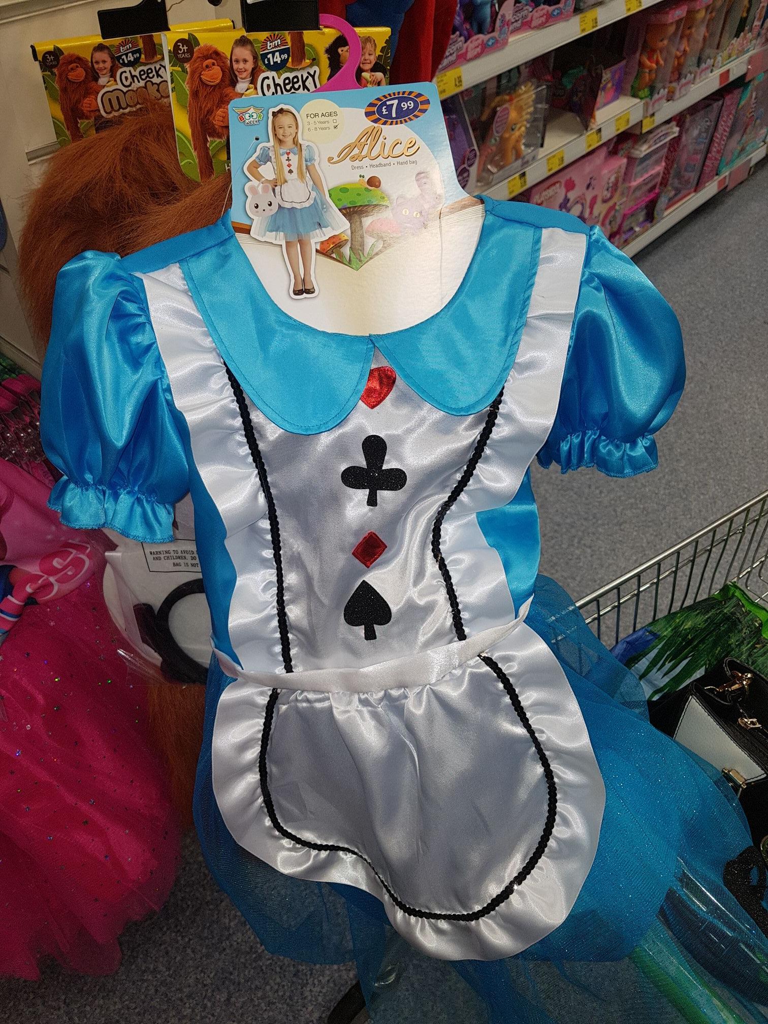 Alice in wonderland kids costume - £1 @ B&M