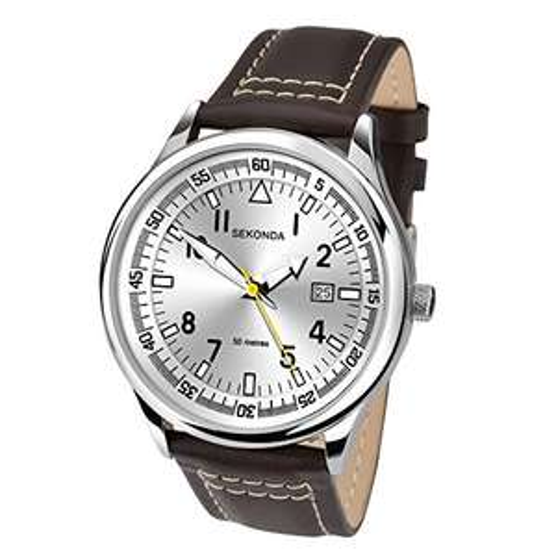 Sekonda  1,251 Men's Quartz Watch with Analogue Display and Leather Strap £17.24 (Prime) £21.23 (Non Prime) @ Amazon