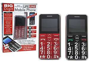 Big Digit Mobile Phone With Large Digits SOS Button Unlocked Great Senior Citizen Gift £19.90 (Prime) £23.89 (Non Prime) @ Sold by Home of Shopping and Fulfilled by Amazon