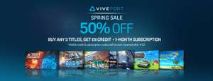 Buy 3 crap VR titles for £6.69  ...get £8 credit and 1 month Viveport Subscription back