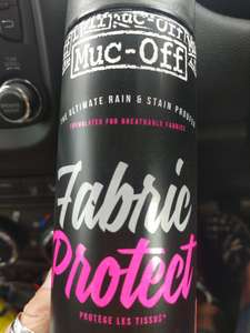 Muc-Off Fabric Protector - Waterproof & Stain Protector ASDA instore £1 Bike Upholstery Camping Outdoors