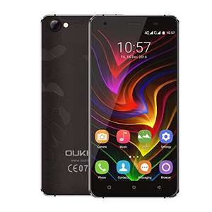 Rugged Smartphone, OUKITEL C5 Pro Unlocked 4G Dual SIM Mobile Phone 5 Inches IPS HD Shockproof Screen Quad Core 2GB RAM 16GB ROM 5MP+8MP Cameras 3000mAh Battery Android 6.0 GPS Cell Phone - Black £53.54 @ Amazon