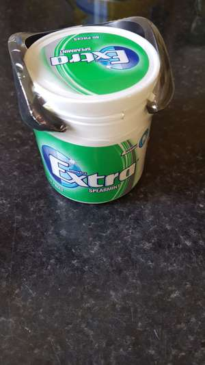 Extra chewing gum car pot with 60 pieces 99p @ aldi