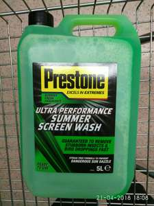 Prestone Ultra Summer Screenwash £3.50 instore  @ Tesco