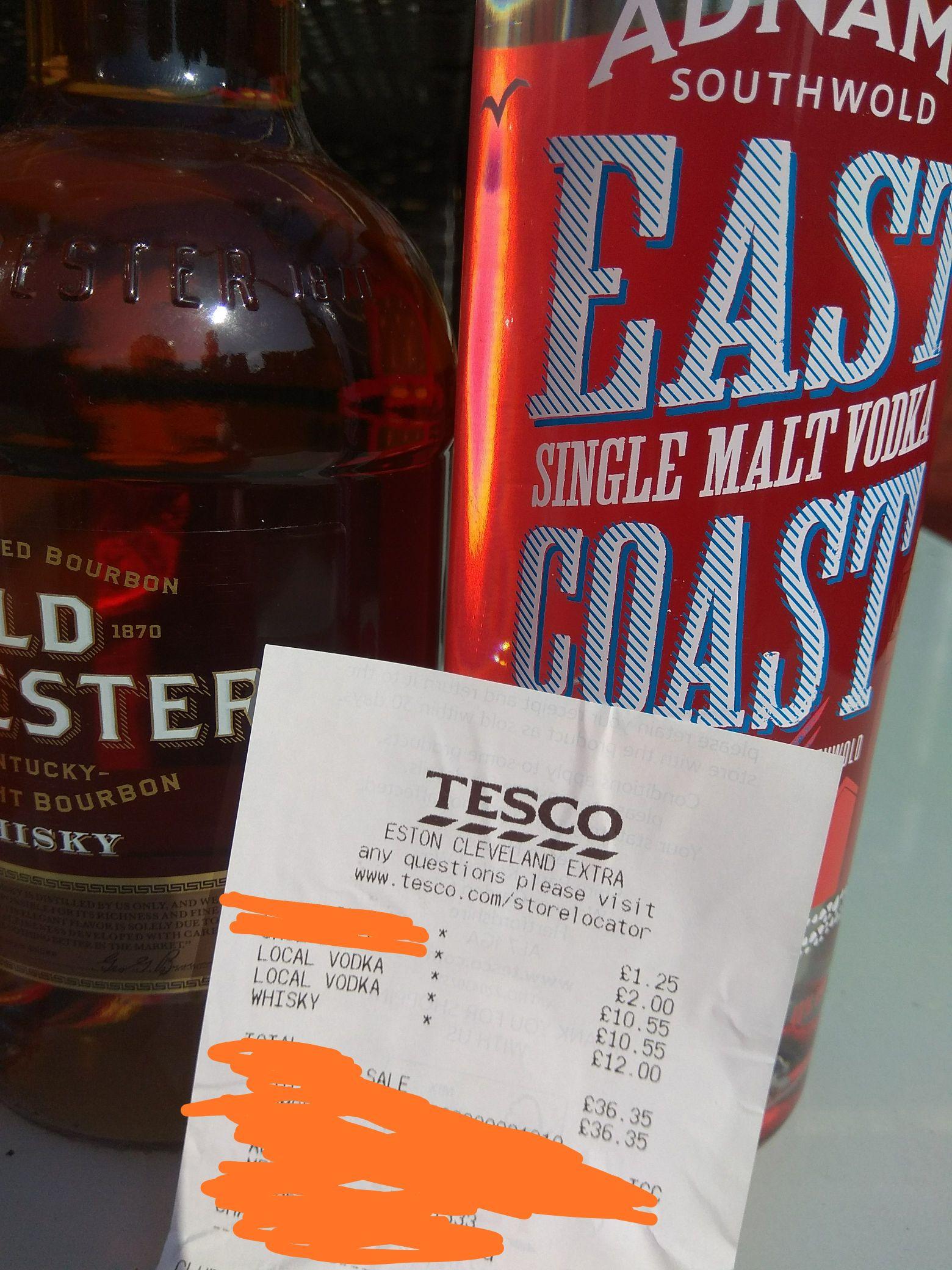 East Coast Vodka £10.55 *in store * @ Tesco