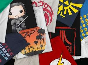 Mystery Geek T-shirt Pack - 5 x random T-shirts for £14.99 delivered at iwantoneofthose.com reduced from £49.99