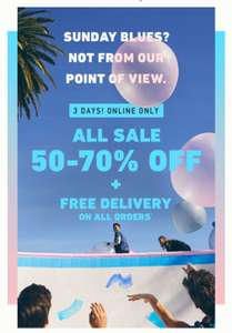 HOLLISTER 50% - 70% SALE + free delivery on all orders