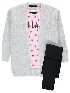 3 piece set- cardigan & top & leggings age 10-11 now £8 was £20 @ Asda