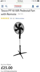 Pedestal fan with remote and led display £25 @ Tesco