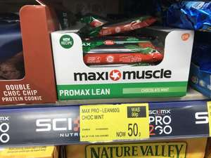 Promax lean protein bar mint chocolate 50p B&M Bargain in store