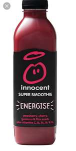 Innocent Energise Super Smoothie 750 ml 2 for £1.50 @ Fultons