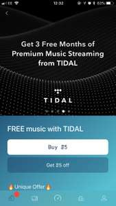Free 3 months subscription to Tidal via Sweatcoin **Please do not share referrals**