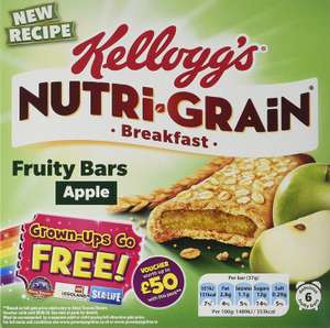 Nutrigrain Apple breakfast bars 6 packs of 7 . A total of 42 individual bars £7 @ Amazon prime exclusive -  Can be purchased even cheaper with subscribe and save