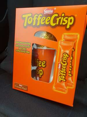 Toffee Crisp Easter Egg with 2 bars and cup £1.00 @ Tesco - St Stephens Hull