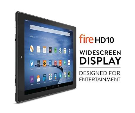 Refurbished Fire HD 10, 10.1'' HD Display, Wi-Fi, 16 GB (Black) - Inc Special Offers £89.99 Amazon