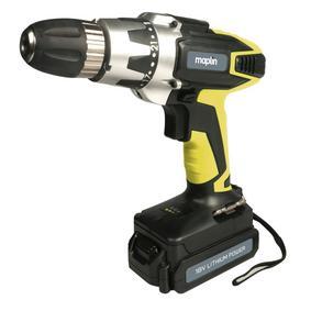 18v cordless drill £27.99 @ Maplin