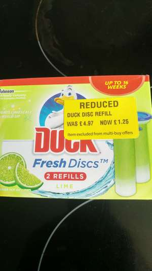 Duck Fresh Discs Refill 2 pack reduced to £1.25 at Morrisons