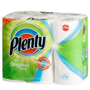 Plenty 6 Pack Kitchen Roll £2.99 @ B&M