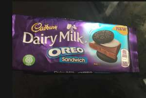 Dairy milk Oreo sandwich Cadbury chocolate bar £1.00 @ Tesco