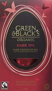 Green & Black's Organic Dark Chocolate Egg, 165 g (Pack of 4) amazon prime £8.76 / £13.51 non prime