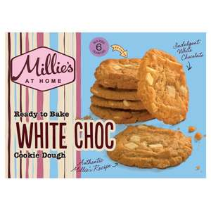 Millie's Cookies Ready To Bake White Chocolate Dough 6 Pack 192g @ Iceland  £1.50