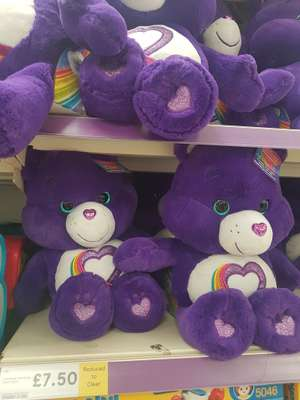 Care Bear Rainbow heart bear £7.50 (was £30) in-store at Tesco -  Highwoods Colchester