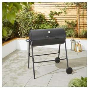 Tesco Charcoal Barrel BBQ with Cover £40 C+C @ Tesco Direct