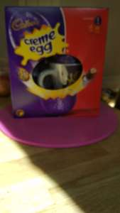 Cadbury creme egg Easter egg with cup and bag of creme eggs £1 instore at Tesco Gillingham