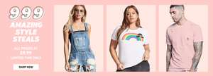 Forever 21 Sale - 999 items now just £9.99 Includes Jeans, Dresses, Tees and more...
