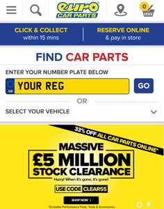33% off with code and if you will spent 9.99 you'll get free same day delivery - Eurocarparts