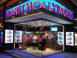 2-Course Meal and Drink at Planet Hollywood London £16 for Adults and £9.50 for Children @ Attractiontix