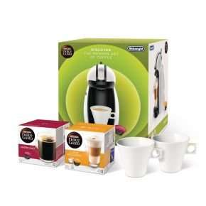 Nescafe Dolce Gusto De'Longhi Piccolo Bundle - White (Includes 2 FREE Stylish porcelain Coffee Cups & 2 boxes of Coffee) £49.98 @ ebuyer