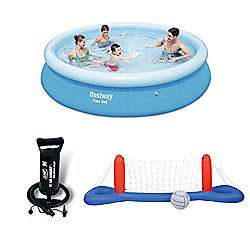 Bestway 10 Ft Fast Set Pool With Hand Pump & Volleyball / Basketball Set Bundle £44.99 at Tesco sold by Howleys Toys