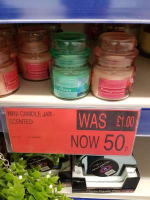 Mini scented candles 50p @ B&M