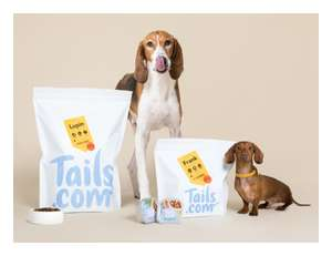 Free Tails Dog Food Set Include Scoop (Worth £54) with just £1 delivery
