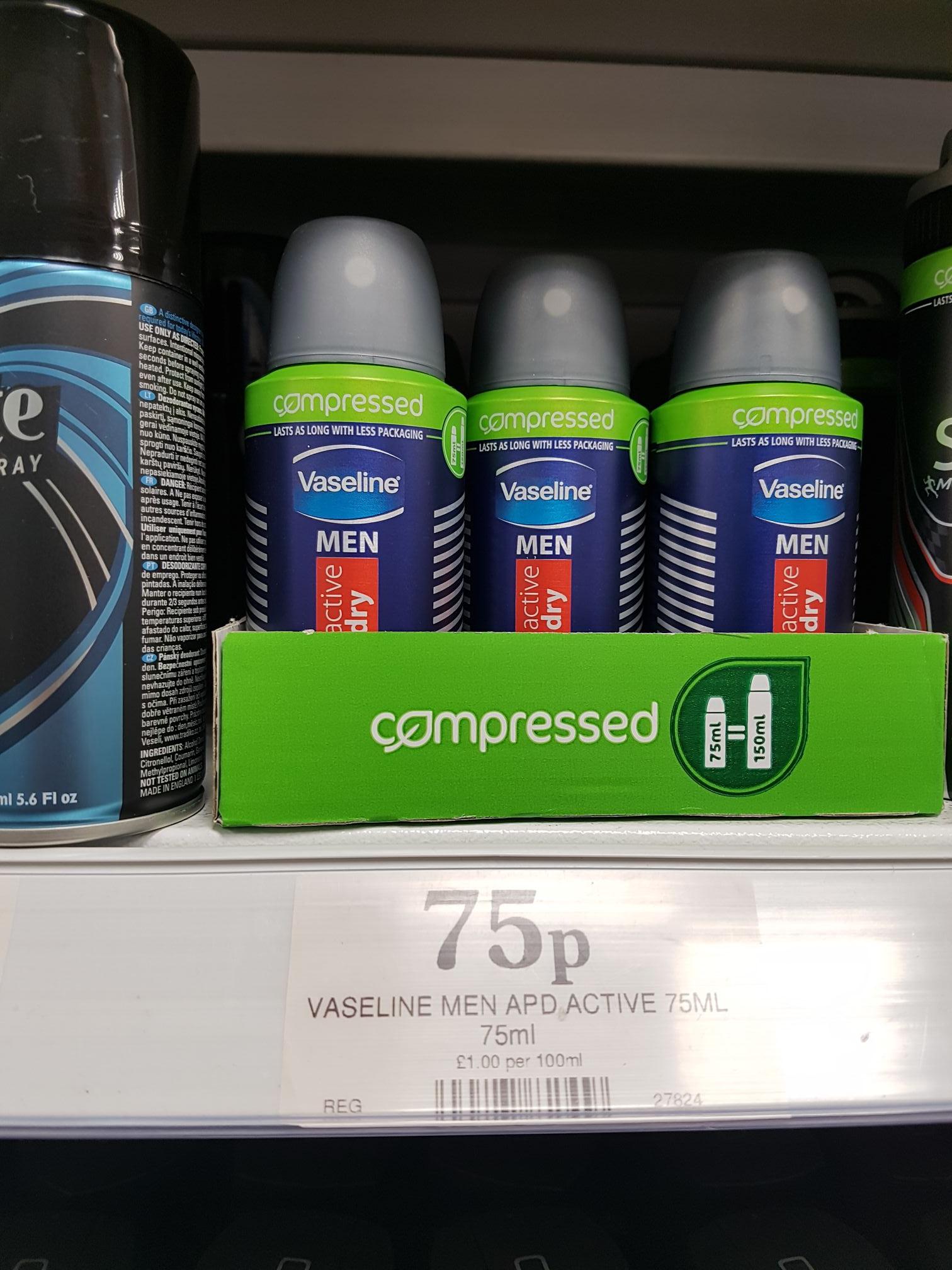 Vaseline men deodorant 75p @ Home bargains