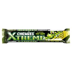 Chewits Extreme Sour Apple (34g each pack) 5 for £1! @ Tesco