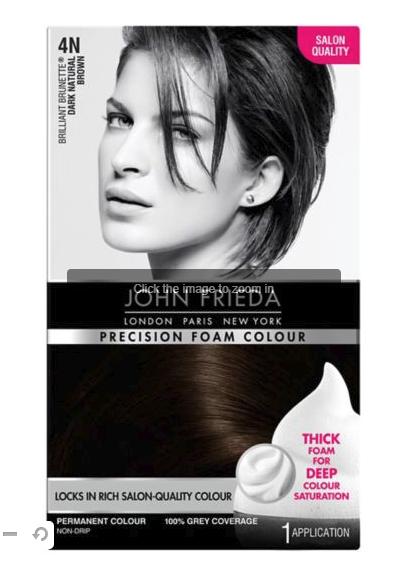 Half price John Frieda hair dye at £4.99 Boots