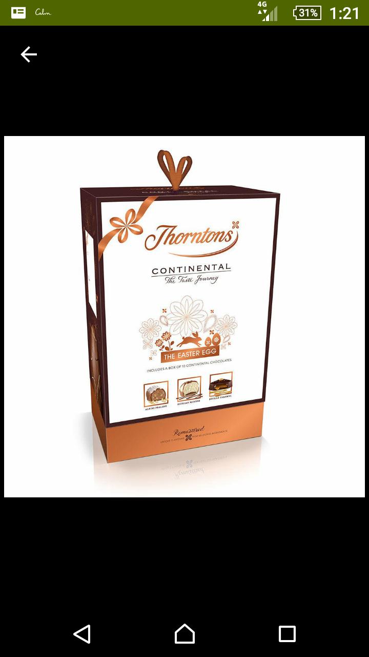 Tesco Thorntons continental easter Egg £3 instore