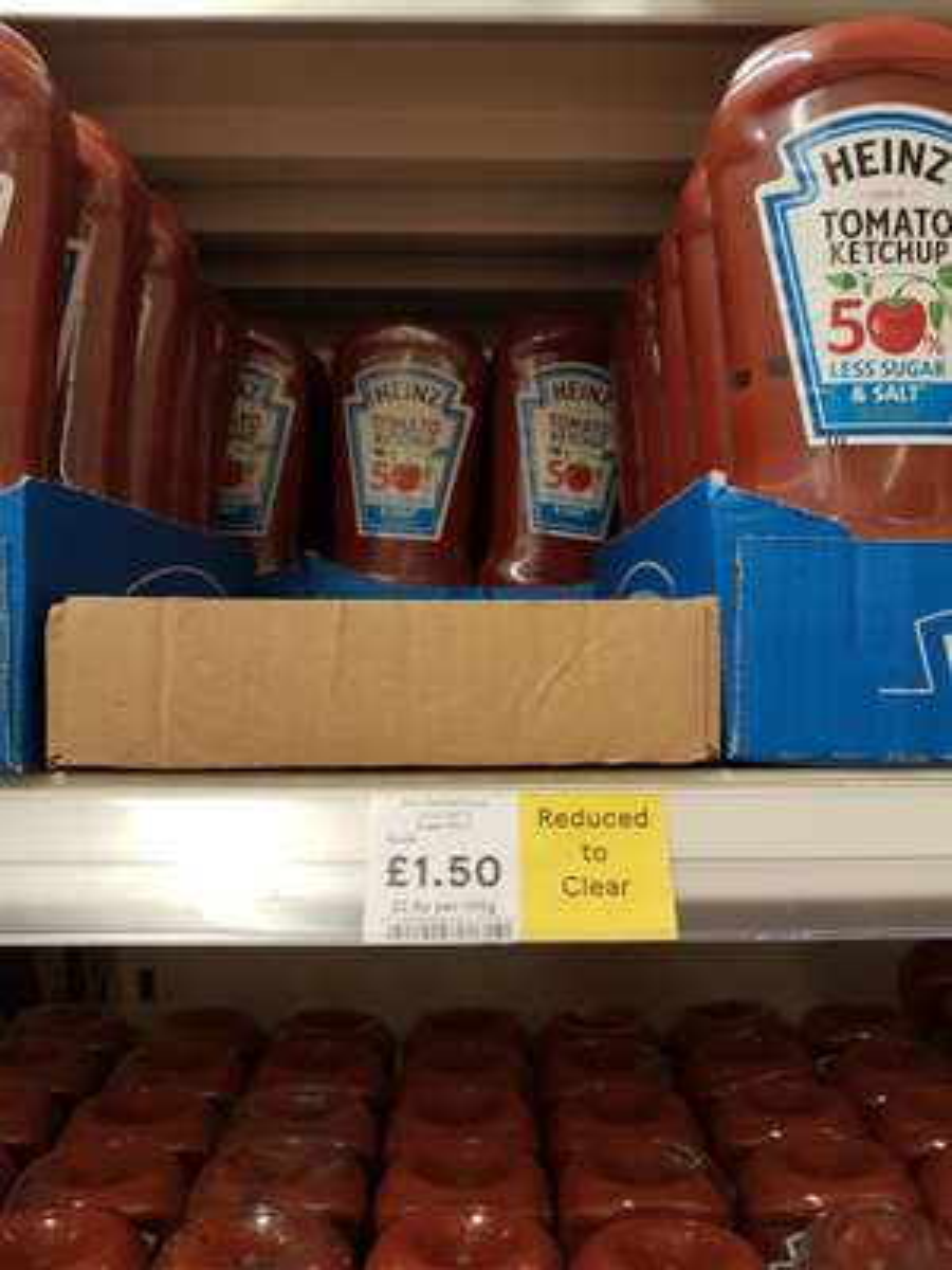 Tesco Heinz Tom Ketchup Less Salt And Sugar 665G £1.50