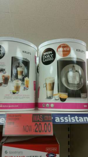 NESCAFE Dolce Gusto Oblo Coffee Machine by Krups - Black £20 instore at b&m